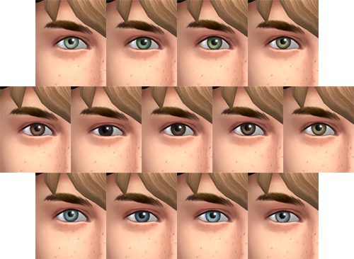 Default Replacement Eyes for The Sims 4 by Simsontherope
