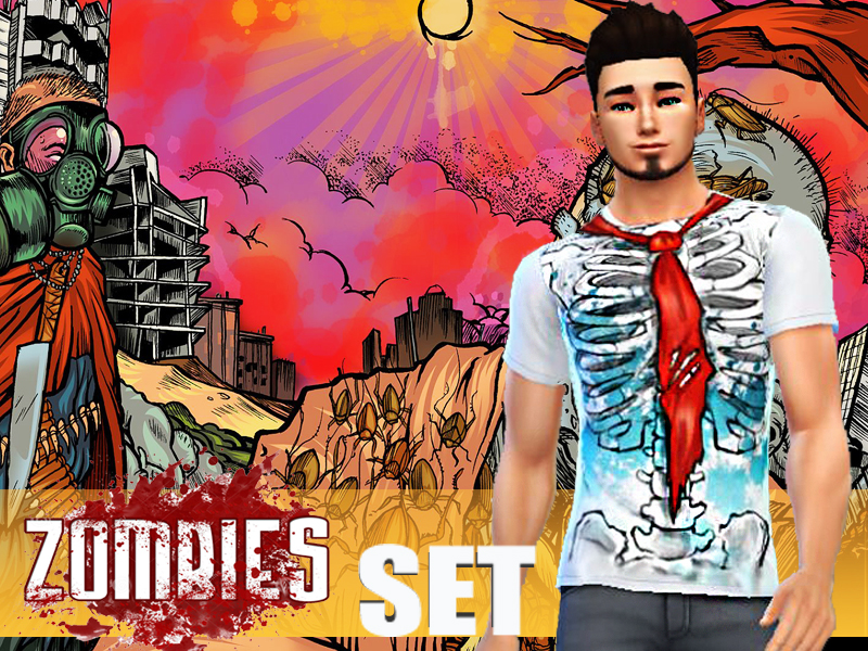 Zombits Shirts Set by Pinkzombiecupcake