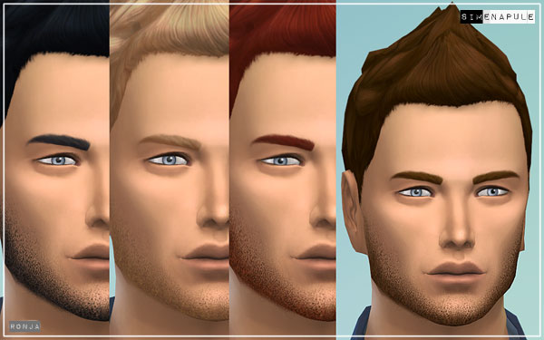 New Facial Hair for The Sims 4 by Ronja