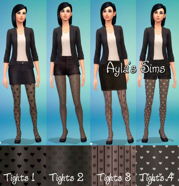 Sims 4 Heart Tights by Ayla's Sims