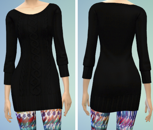 4 Sweater Dress Recolors by The Simsperience
