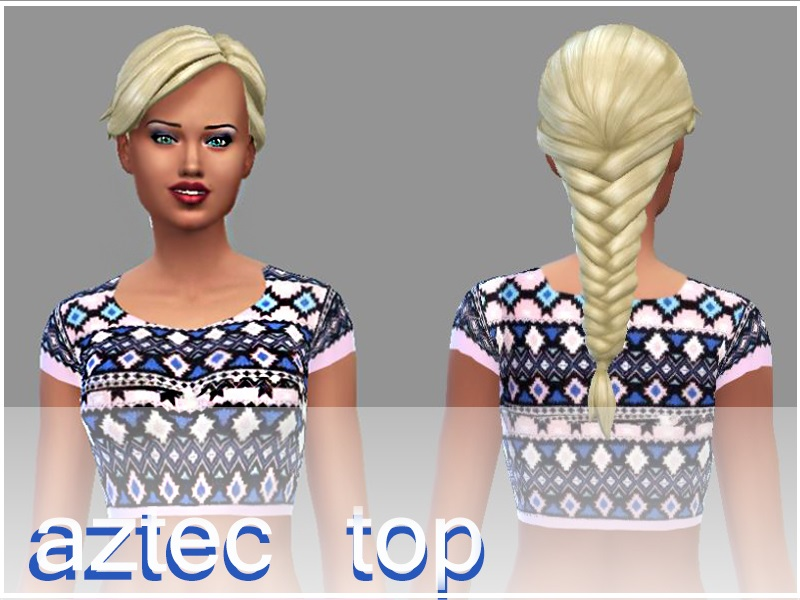 Aztec Top by Pinkzombiecupcake