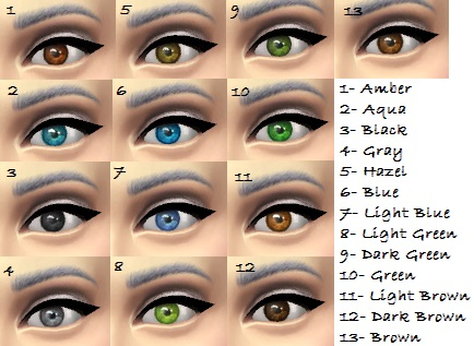 Default replacement eyes for TS4 by KBSimmer