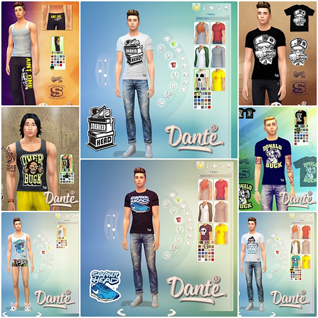 T-Shirt and Sweat Pants for Males by Dante