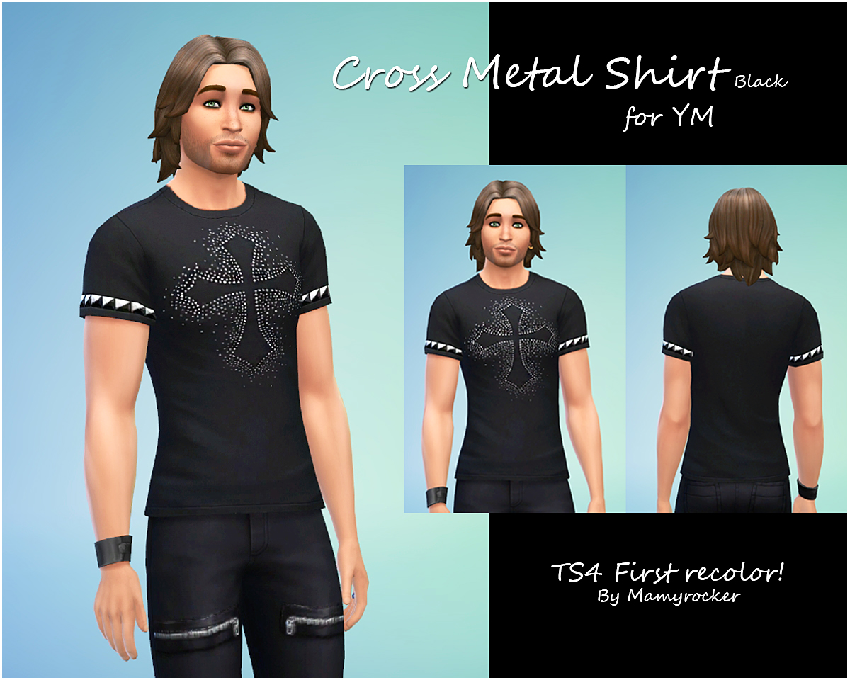 Cross Metal shirt by MamyRocker