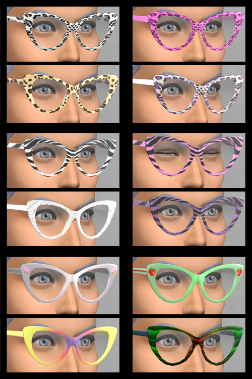 Female Wild Glasses (Non-Default) at KitOnlyHuman