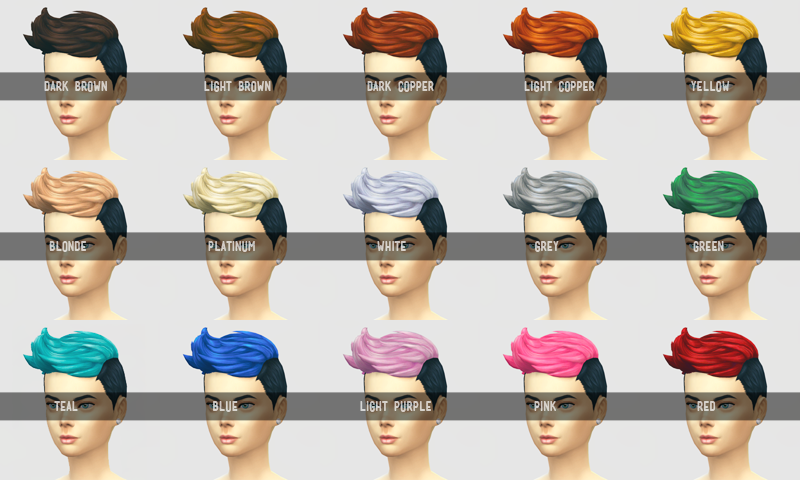 Buzzed Up Black Roots Hair Recolors by Sqquaresims