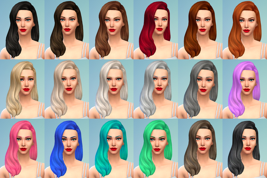 Default Replacement Hair Using Pooklets v2 Textures by Deliriumsims