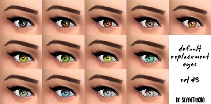 Default Replacement Eyes Set 3 by Seventhecho