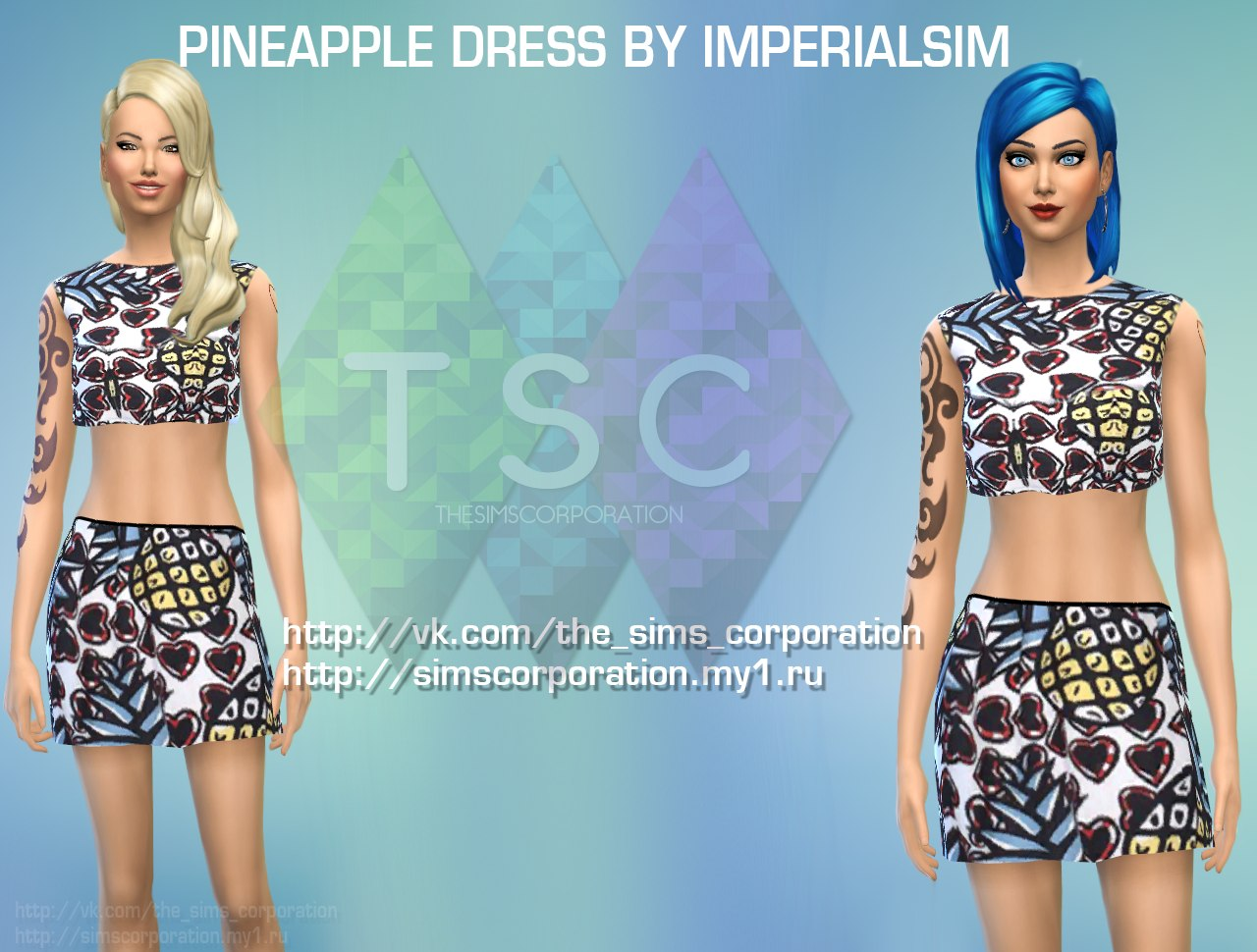 Pineapple dress by IMPERIALSIM