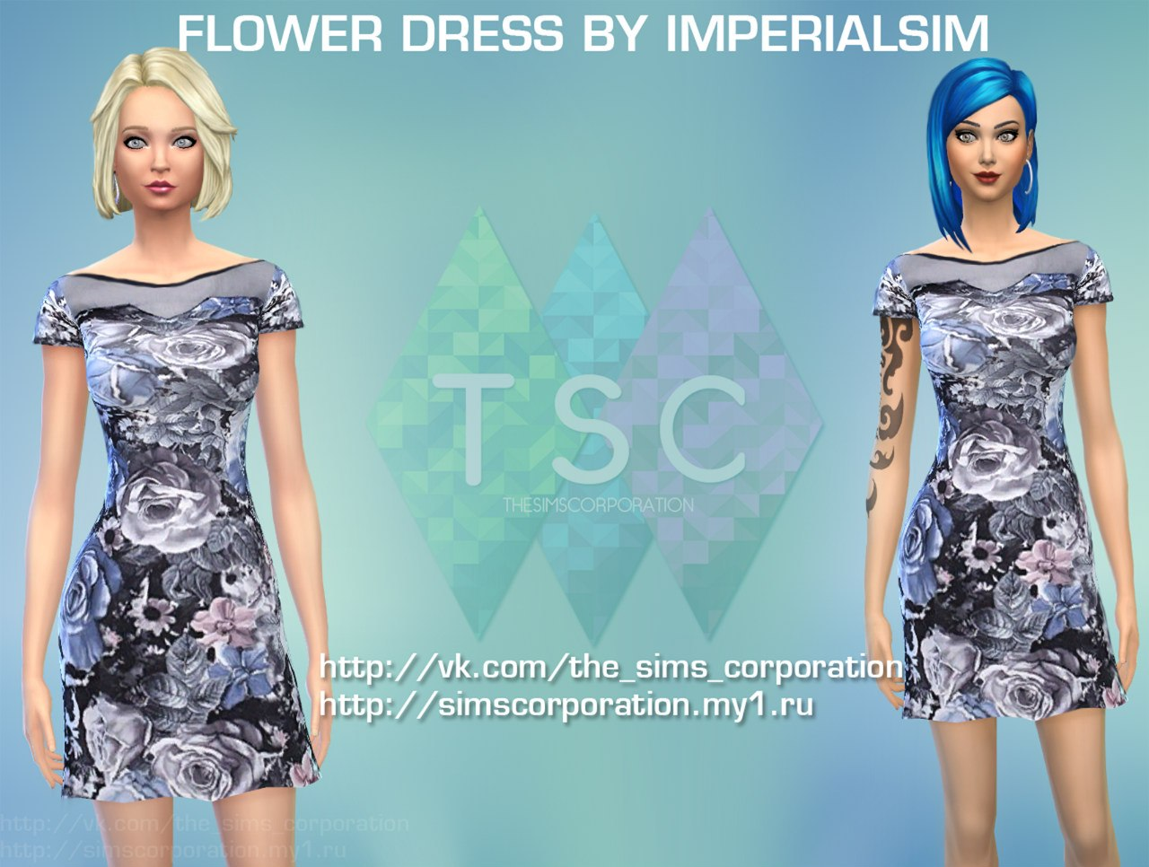 FLOWER DRESS BY IMPERIALSIM