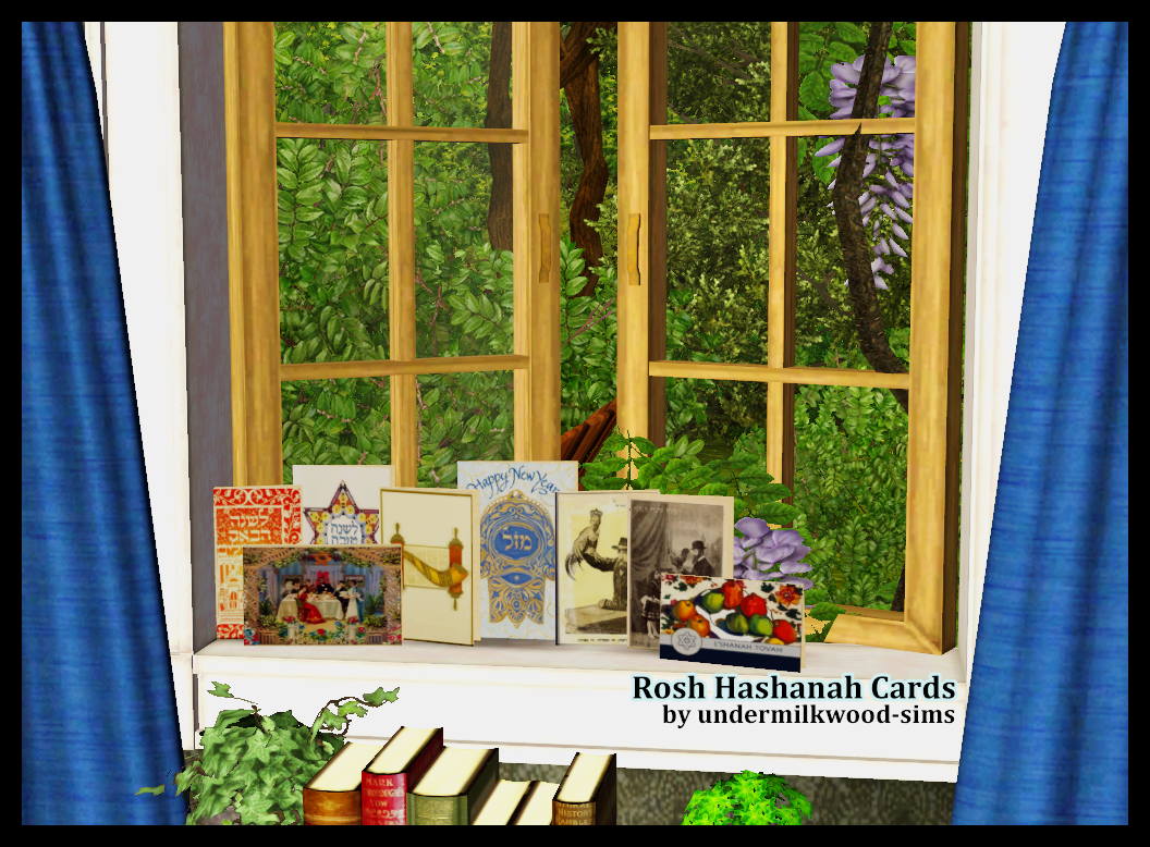 Rosh Hashanah Cards by UndermilkwoodSims