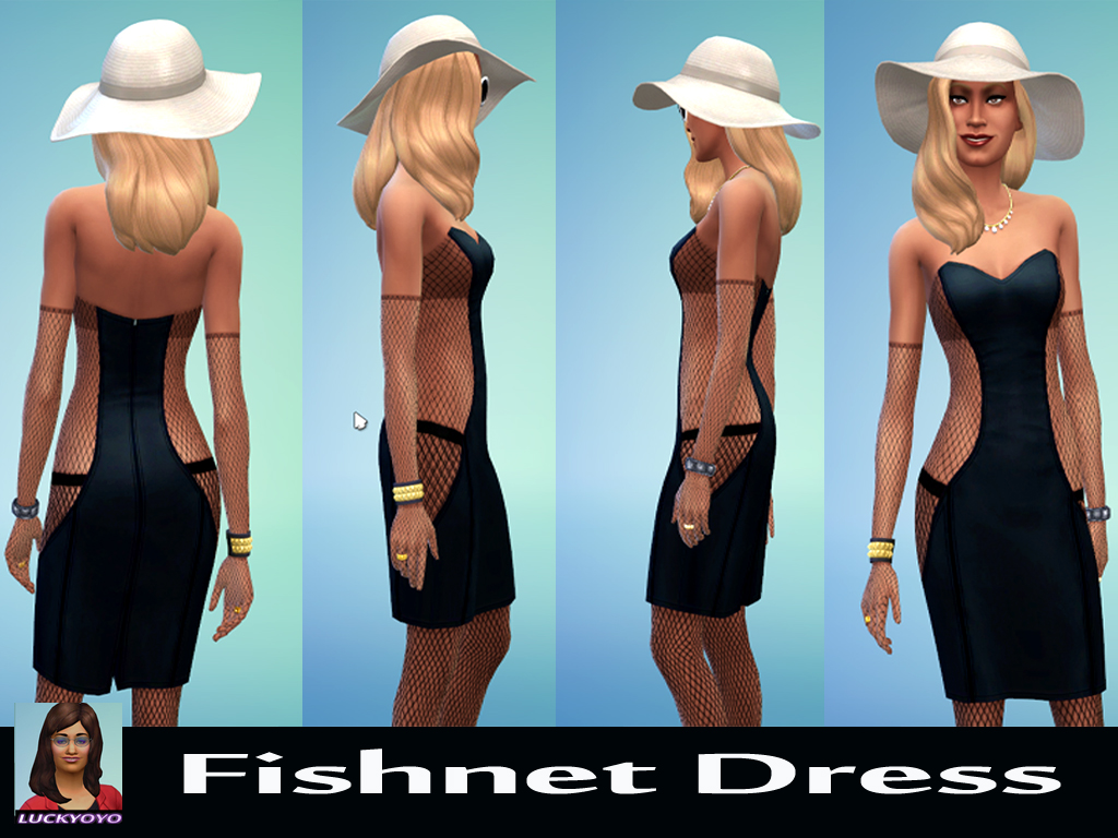 Fishnet Dress by luckyoyo
