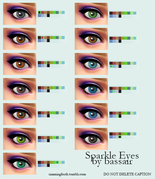 Sparkle Default replacement Eyes by bassair