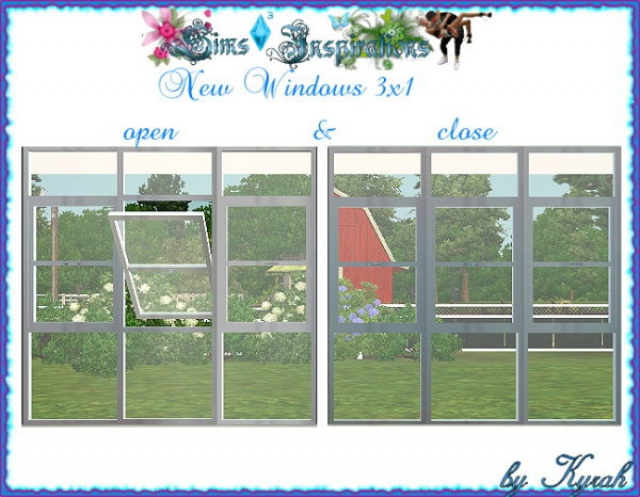 Window 3x1 open and close version by Kyrah