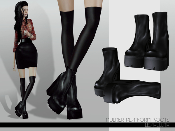 LeahLillith Mulder Platform Boots by Leah Lillith