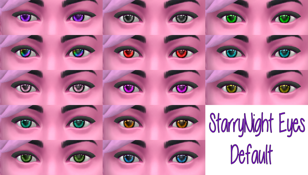 STARRY NIGHT EYES by Starssugarypixels