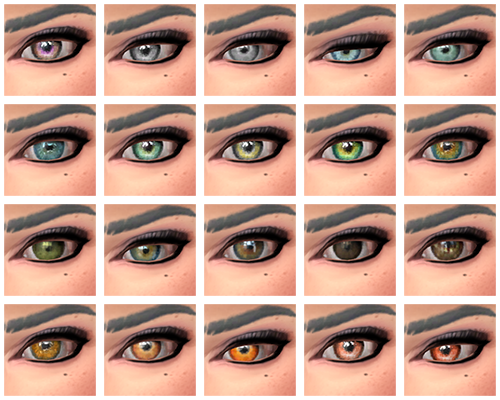 Sims 4 Non-Default Eyes by EndlessLaziness