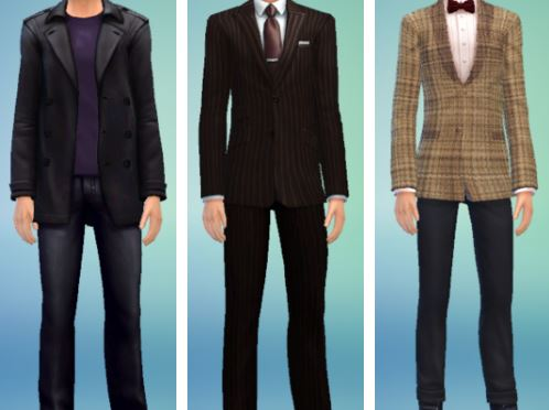 Nine, Ten, and Elevens outfits for TS4 at Nyami Sims