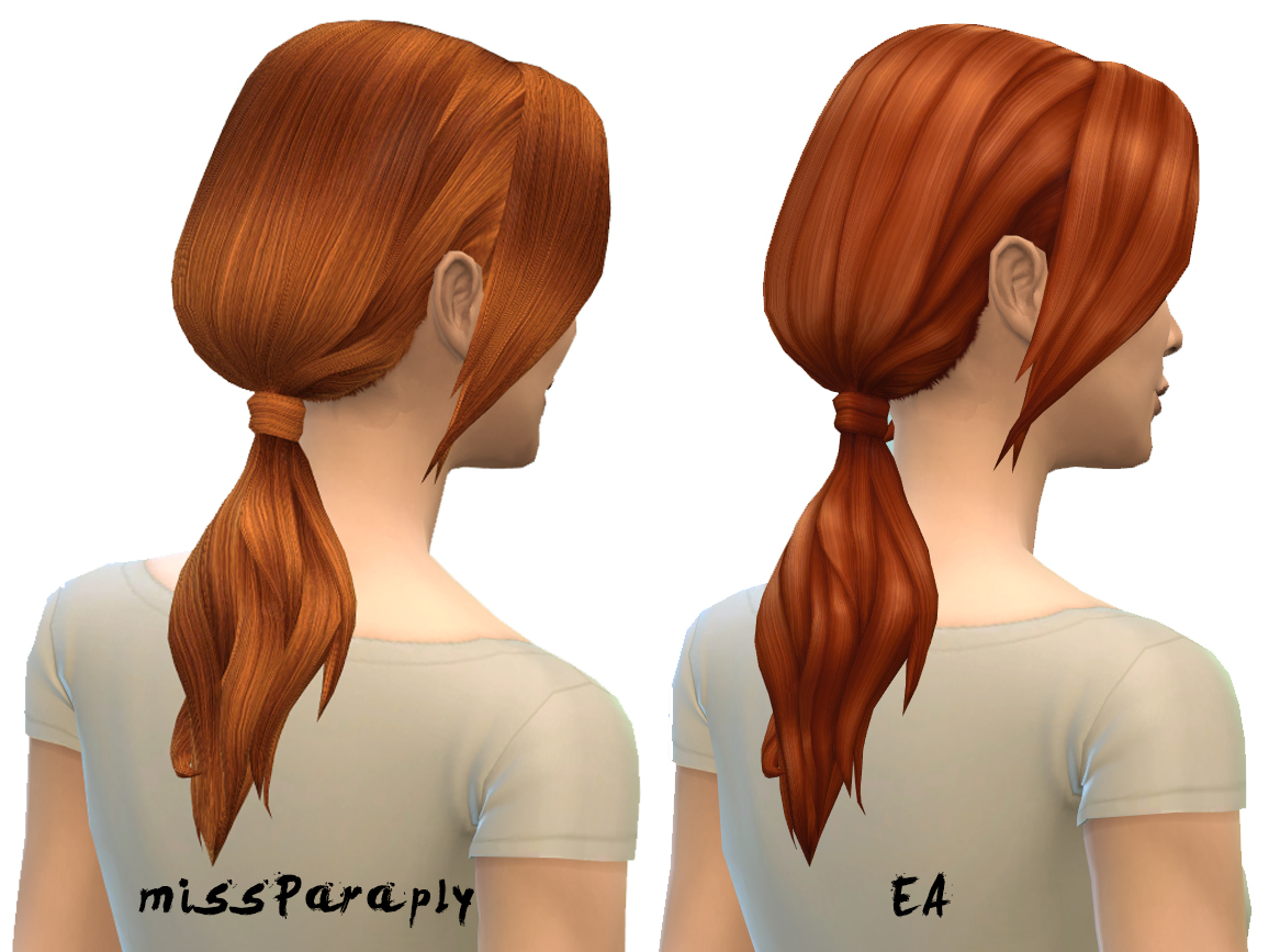 Low Ponytail Retextures by Missparaply