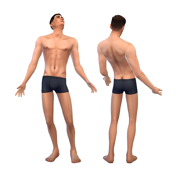 2 non-default TS4 skintones at Chisami