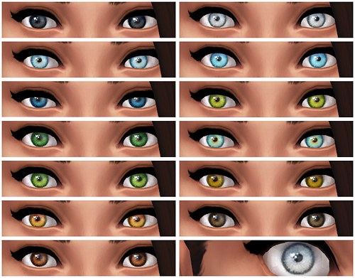 Pinsruck's N1 Default Eyes by Chisimi
