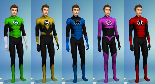 Lantern Corps uniforms (males) at Sambler