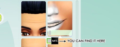 Nose and Lips Mask at Missfortune Sims