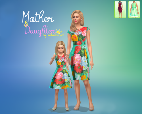 Mother & Daughter Dresses by Inabadromance