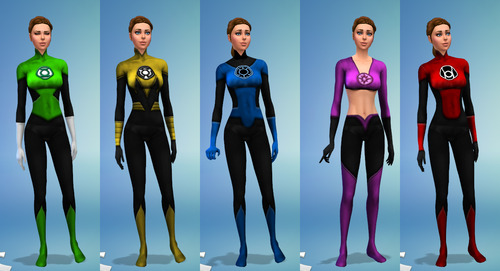 Lantern Corps uniforms (females) at Sambler