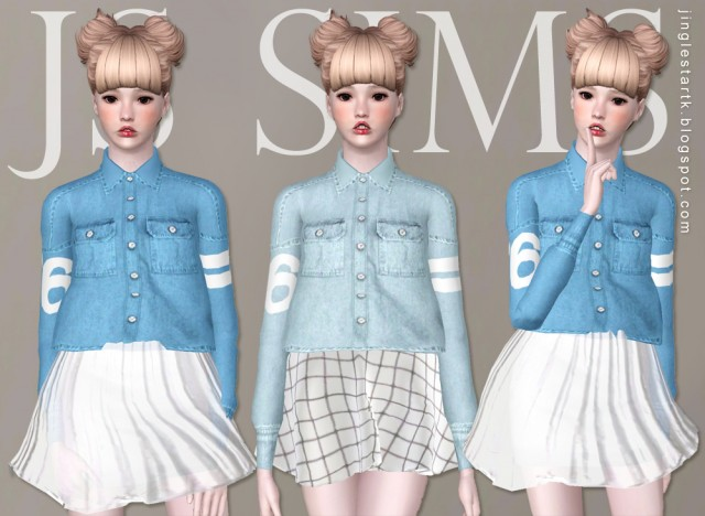 Sporty style denim shirt by JS SIMS 3
