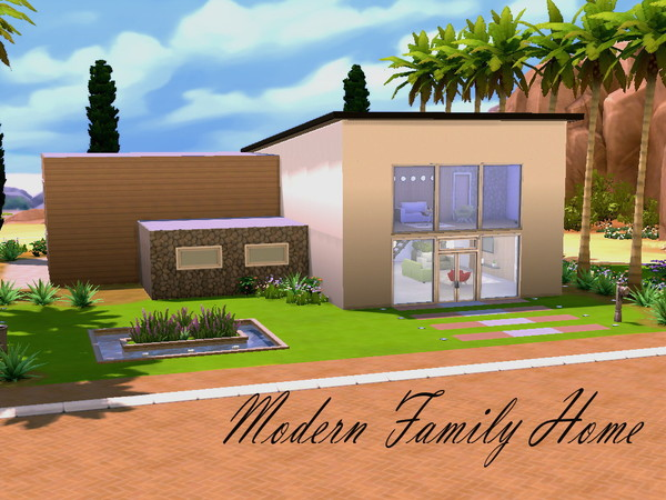 Modern Family Home by HazelSims