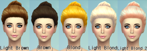 22 Non-default Hair Recolors at Darkiie Sims4