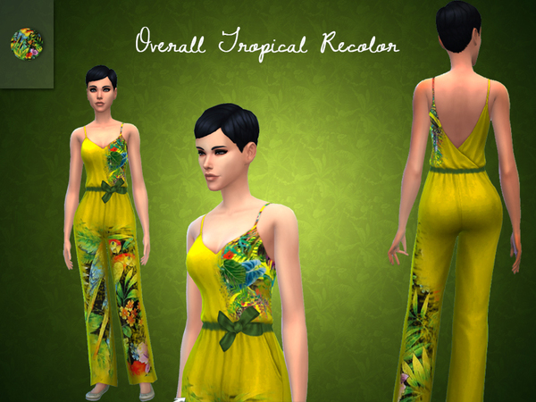 Jumpsuit Tropical Recolor by ~Loira