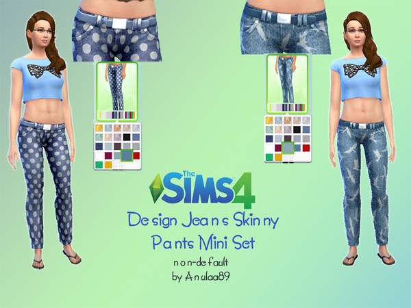 Design Jeans Skinny Pants Mini Set by anulaa89