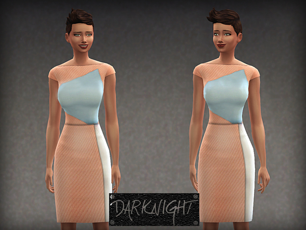 Paneled Tri-Color Dress by DarkNighTt