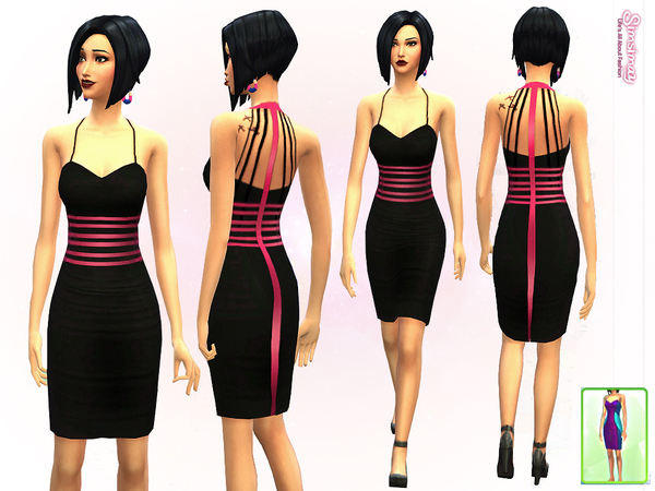 Leona Striped Dress by Simsimay