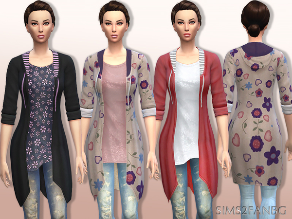 01 Long sweatshirt with top and jeans - Set by sims2fanbg