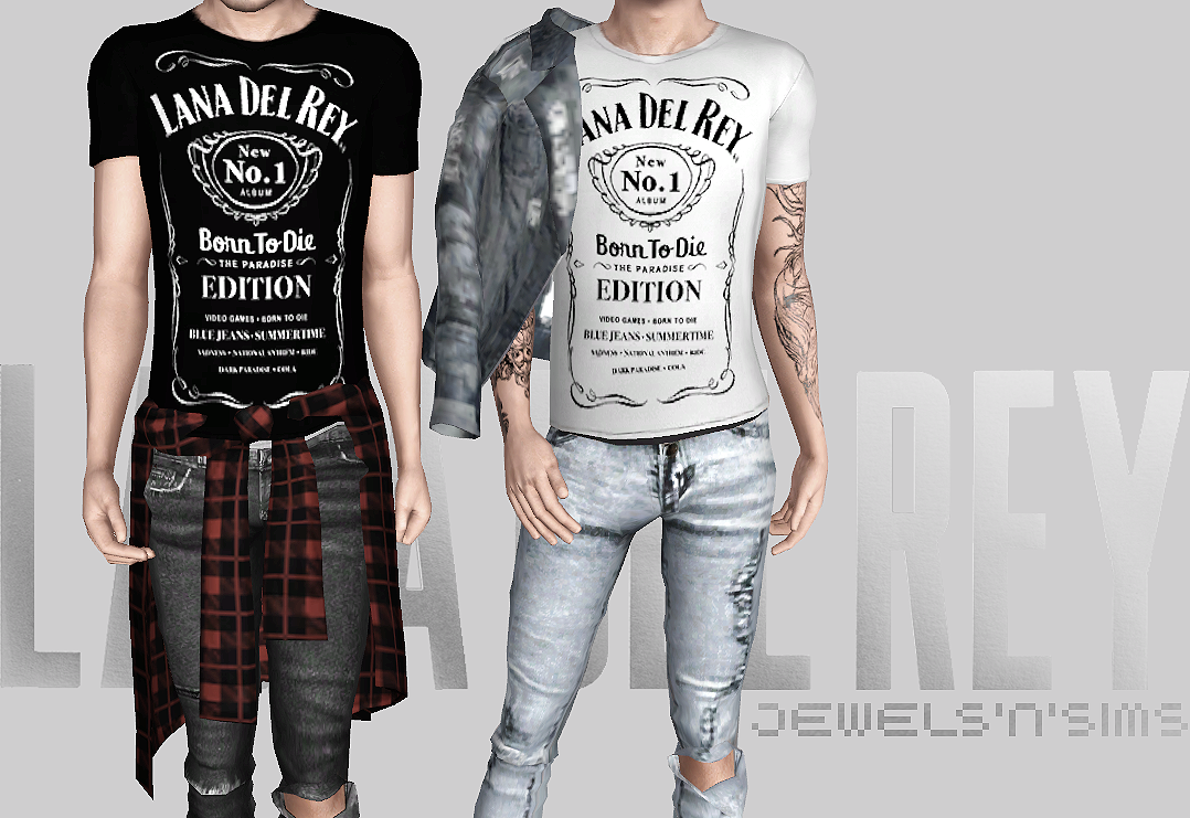 Lana del Rey x Jack Daniels Male T-Shirts by Jewelsnsims