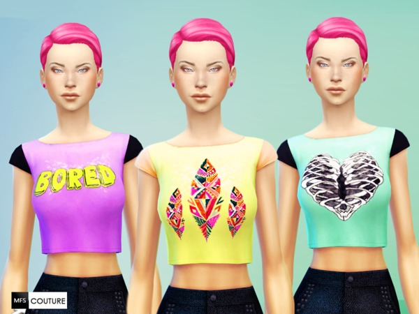 Hipster Crop Tops by MissFortune