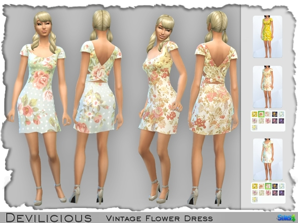 Vintage Flower Dresses by Devilicious