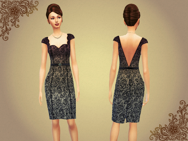 Lace Dress With Belt 6 Colors Set by notegain