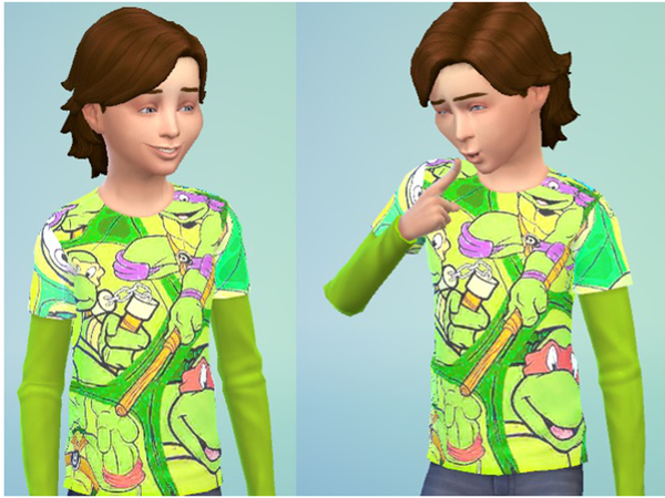Turtles t-shirt for little boys by JinxTrinity
