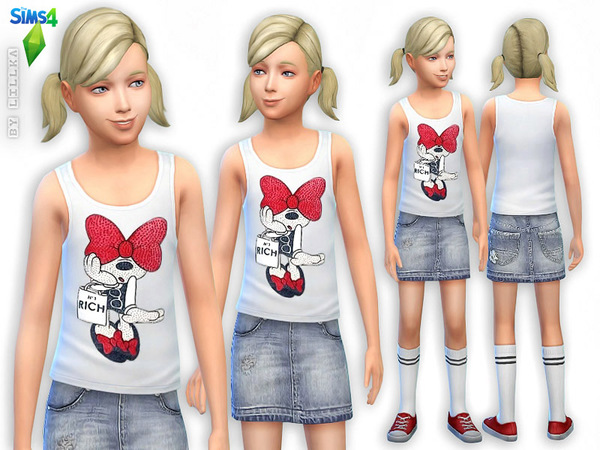 Minnie Top & Denim Skirt - Set by lillka