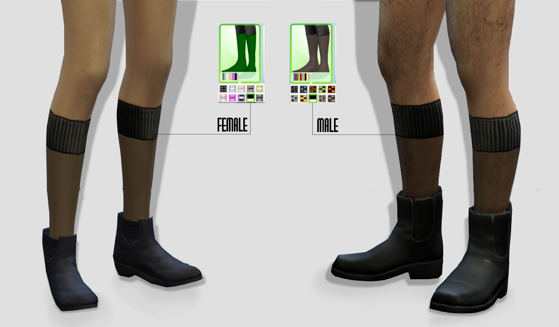 LookBook Socks for Males & Females by Hautfashionsims4