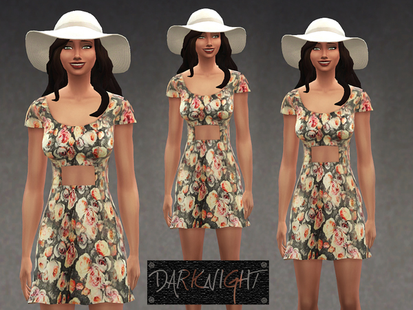 Rose Olivia Printed Recolor Dress by DarkNighTt