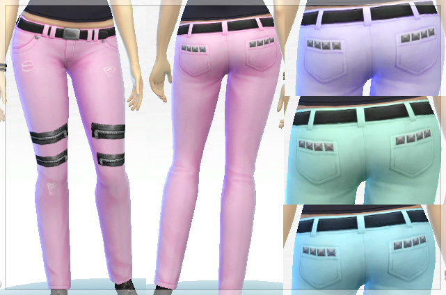 Jeans Recolors for Females by Phxlol