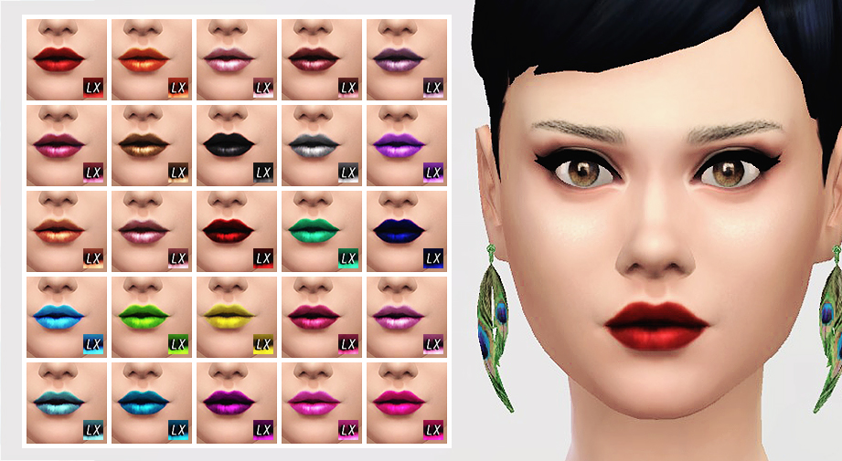 Lipstick Set 02 with 25 Variations by Lightsxxx