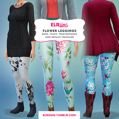 Flower Leggings by ELRsims