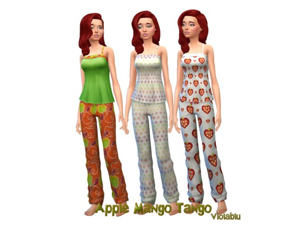 Apple Mango Tango Pj Set by oldmember_violablu